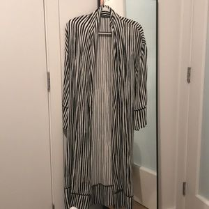 Zara Silk Kimono, B&W, Size XS-S